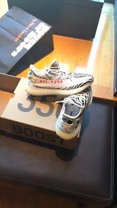 Yeezy zebra 350 boost brand new
