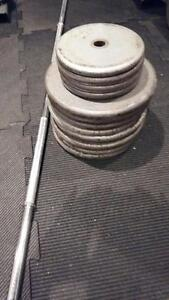 Standard plates with 5 feet barbell