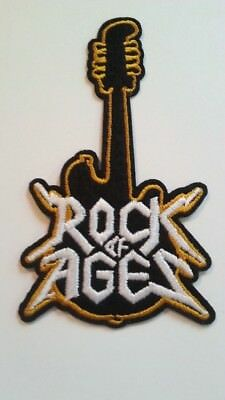 "Def Leppard~Rock of Ages~Guitar~Embroidered Patch~4 3/8"" x 2 3/8""~Iron Sew On"