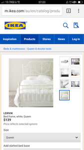 Double Ikea Leirvik Bed Frame Rothwell Redcliffe Area Preview
