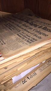 NEWSPAPERS -antique ! Old! 1940's vintage