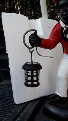 Black Lawn Jockey Solar Lantern...Lantern only... Not the jockey