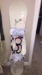 Burton snow bored bindings and bag