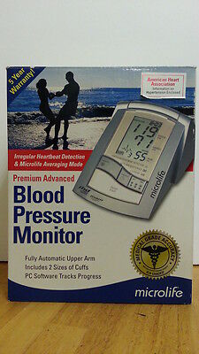 Microlife Premium Advanced Blood Pressure Monitor 3AC1-PCCOS w Large,Medium Cuff