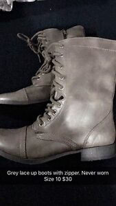 Boots and shoes, size, description and prices marked in photos