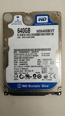 "Western Digital WD6400BEVT WD Blue 640GB 2.5"" SATA II Laptop Hard Drive for sale  Shipping to Nigeria"