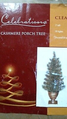 Celebrations 01220 Pre-Lit 3' Christmas Tree, Potted, Indoor/Outdoor FREE SHIP