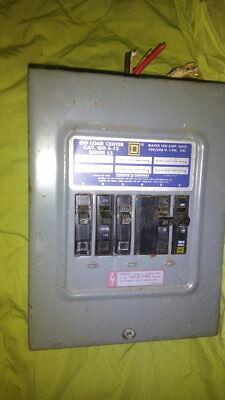 Used Square D Qo Load Center Cat Qo 6-12 Series L5 100amp 1 Phase W Breakers