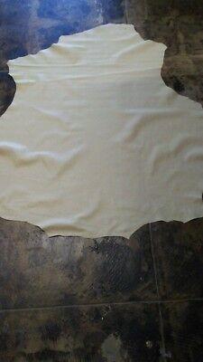 4 Sq.Ft Italian paper thin Lambskin nubuck leather lamb skin hide taupe//beige