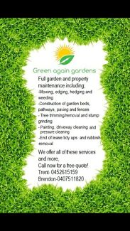 Green Again Garden and property maintenance Corinda Brisbane South West Preview