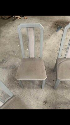 Vintage 90s Italian wooden  Chairs X 4