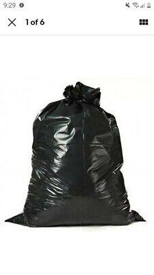 Heavy Duty 55-60 Gallon 3 mil Contractor Trash Bags, 32/Case Garbage Bags Black
