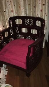2x Chinese Solid Rosewood Chairs