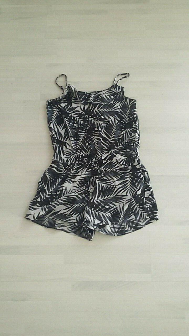 Overall für Mädchen H&M schwarz-weiß Größe: 146