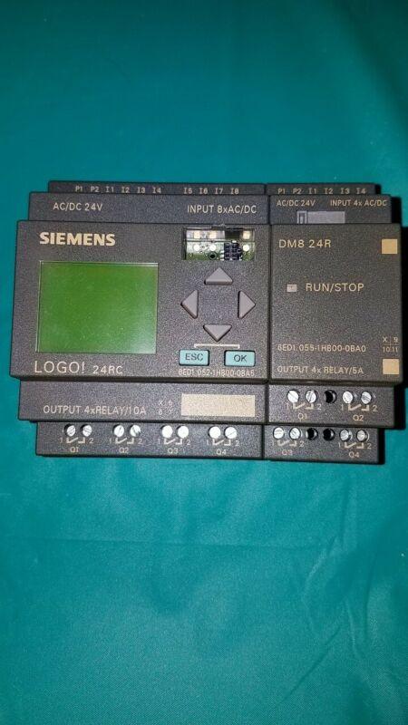 SIEMENS PLC 6ED1 052-1HB00-0BA5 24 VAC/DC WITH OUT PUT MOD6ED10551HB000BA0