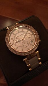 AUTHENTIC ROSE GOLD AND BLUSH ACETATE MICHAEL KORS WATCH!!!