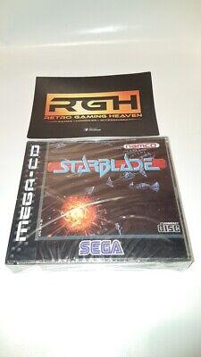 STARBLADE SEGA MEGA CD GAME NEW FACTORY SEALED + SPINE CARD MINT...