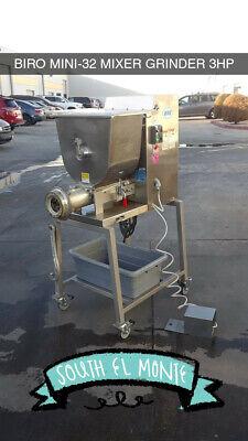 Biro Mini-32 Automatic Feed Heavy Duty Butcher Shop 60 Lb Mixer Grinder