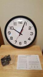 13 inch Black Wall Clock Electric or Battery Classic School Office TC7911B