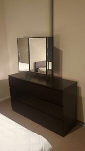 Queen bed + mattress + mirror + tallboy for sale !!! Coburg Moreland Area Preview