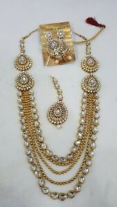 Indian Pakistani ladies jewellery nath tikka necklace earrings j