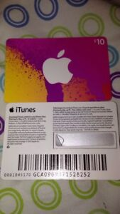 Two $10 ITunes Cards