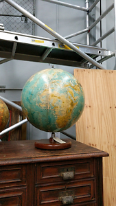 Large vintage world globe Randwick Eastern Suburbs Preview
