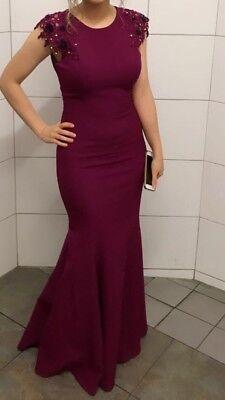 Meerjungfrau Kleid für Verlobung, Hochzeit, Abikleid, Größe 36, dunkel -