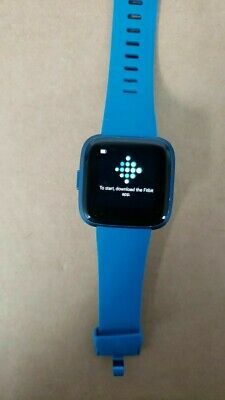 Fitbit Versa Lite Edition Smart Watch Small Wristband Blue Band