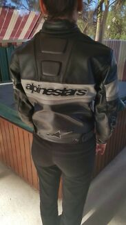 Alpinestars leather jacket womens