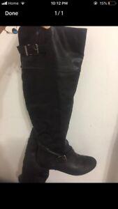 Aldo KneeHigh Black Womens boots Size 7