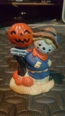 Halloween decorations ceramic figure Scarecrow Pumpkins for sale sign