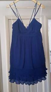 Cocktail/evening dress - Peacock blue - size 10 - worn once New Lambton Newcastle Area Preview