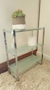 SMALL CHROME & FROSTED GLASS SHELVES Marino Marion Area Preview