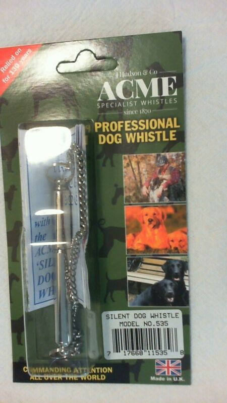 Acme Silent Dog Whistle model 535, train puppies, hunting dogs and Dolphins