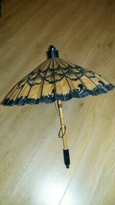 paper & wood ornamental parasol/umbrella asian new - stunning