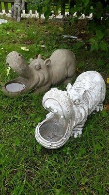 Stone hippo birdbath/planter weatherproof frost proof  garden ornament