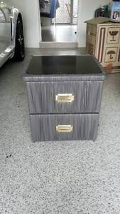2x Grey leather bedside tables Nerang Gold Coast West Preview