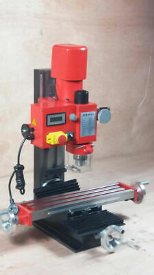 Mini Milling Drilling Machine Digital Display 20 - 2500rpm Gear Drive Variable