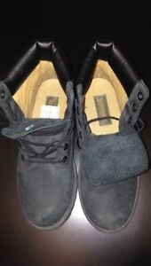 Pair of black timberland boots