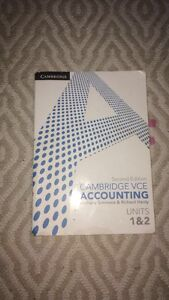 CAMBRIDGE VCE ACCOUNTING units 1&2 text book Hampton East Bayside Area Preview