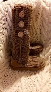 Authentic knitted UGG boots