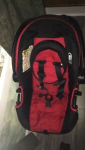 Red and black travel system