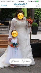 Wedding dress size 20 plus sized
