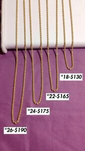 10kt yellow gold rope chains