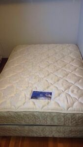 Double soft mattress and box spring