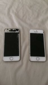 2 cracked iPhone5s
