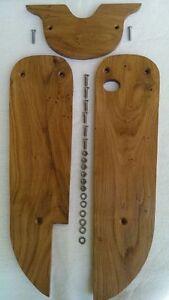 Retro-Design Echt-Holz Set Trittbretter & Abdeckung Simson Schwalbe KR 51, NEU