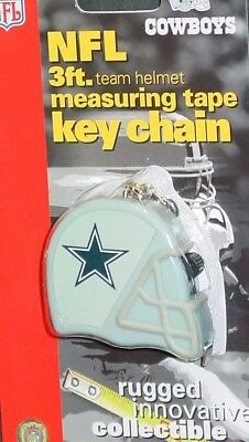 NFL Dallas Cowboys 3 Foot Measuring Tape Key Chain, NEW Dallas Cowboys Tape Measure