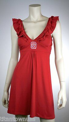 NC State Wolfpack  Womens Ruffle Dress ^^Large^^  (NWT) - Nc State Apparel